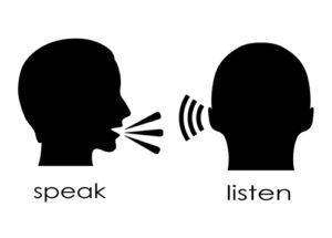 Schaubild Reden und Zuhören